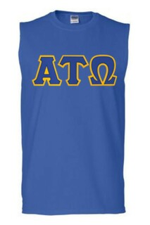 DISCOUNT- Alpha Tau Omega Lettered Sleeveless Tee