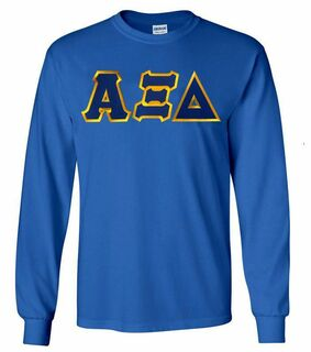 DISCOUNT Alpha Xi Delta Lettered Long Sleeve Tee