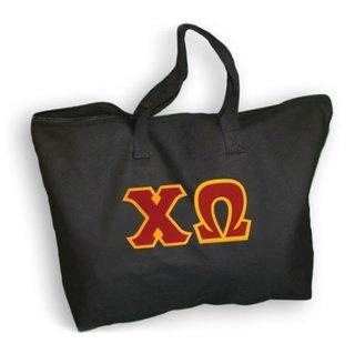DISCOUNT- Chi Omega Lettered Tote Bag