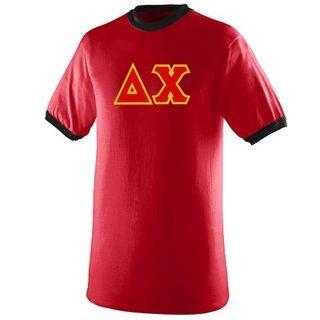 DISCOUNT- Delta Chi Lettered Ringer Shirt