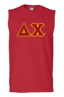 DISCOUNT- Delta Chi Lettered Sleeveless Tee