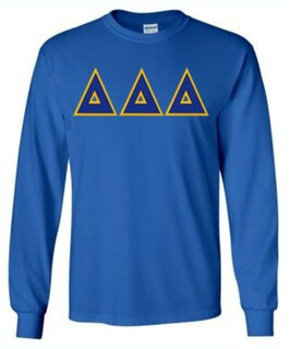 DISCOUNT Delta Delta Delta Lettered Long Sleeve Tee