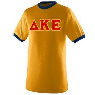 DISCOUNT- Delta Kappa Epsilon Lettered Ringer Shirt