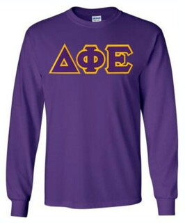 $19.99 Delta Phi Epsilon Lettered Long Sleeve Tee