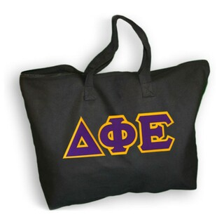 $19.99 Delta Phi Epsilon Lettered Tote Bag