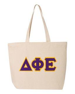 DISCOUNT- Delta Phi Epsilon Lettered Tote Bag