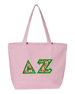 $19.99 Delta Zeta Custom Satin Stitch Tote Bag