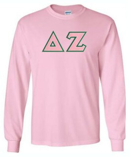 DISCOUNT Delta Zeta Lettered Long Sleeve Tee