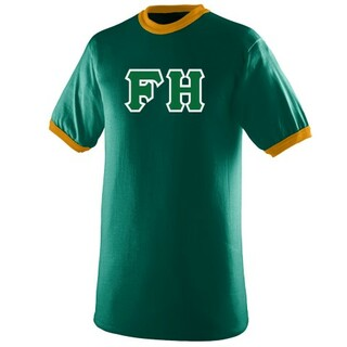 $19.99 FarmHouse Fraternity Lettered Ringer Shirt