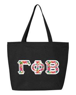 $19.99 Gamma Phi Beta Custom Satin Stitch Tote Bag
