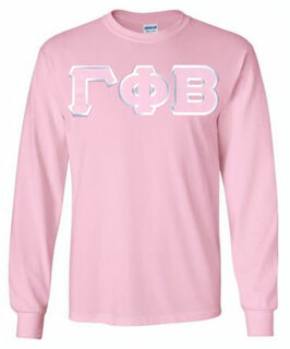 DISCOUNT Gamma Phi Beta Lettered Long Sleeve Tee