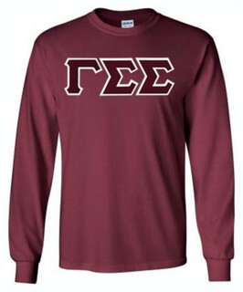 DISCOUNT Gamma Sigma Sigma Lettered Long Sleeve Tee