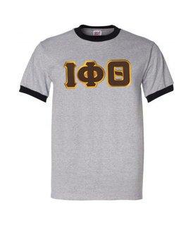 DISCOUNT- Iota Phi Theta Lettered Ringer Shirt
