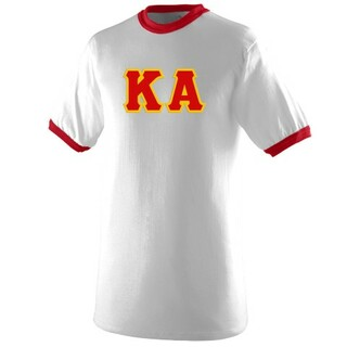 DISCOUNT- Kappa Alpha Lettered Ringer Shirt