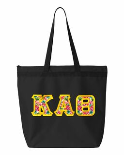 $19.99 Kappa Alpha Theta Custom Satin Stitch Tote Bag