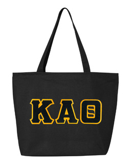 DISCOUNT- Kappa Alpha Theta Lettered Tote Bag