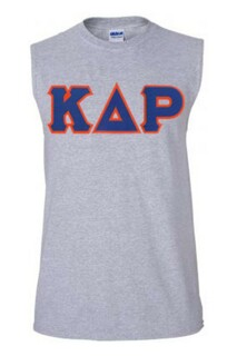 DISCOUNT- Kappa Delta Rho Lettered Sleeveless Tee
