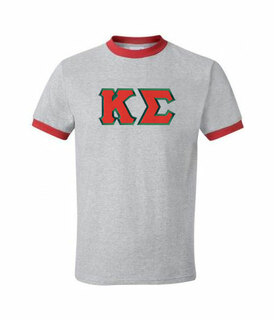 DISCOUNT- Kappa Sigma Lettered Ringer Shirt