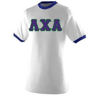 DISCOUNT- Lambda Chi Alpha Lettered Ringer Shirt