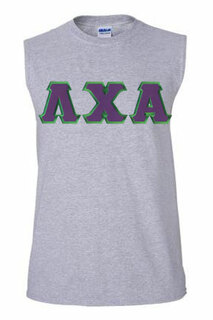 DISCOUNT- Lambda Chi Alpha Lettered Sleeveless Tee