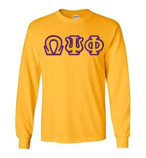 Omega Psi Phi Custom Twill Long Sleeve T-Shirt
