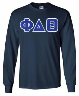 DISCOUNT Phi Delta Theta Lettered Long sleeve