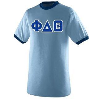DISCOUNT- Phi Delta Theta Lettered Ringer Shirt