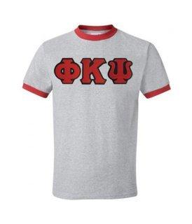 DISCOUNT- Phi Kappa Psi Lettered Ringer Shirt