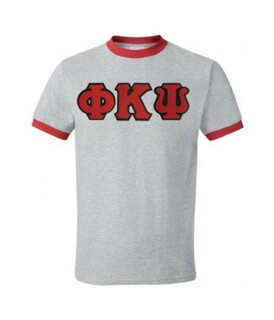 DISCOUNT- Phi Kappa Psi Lettered Ringer Shirt