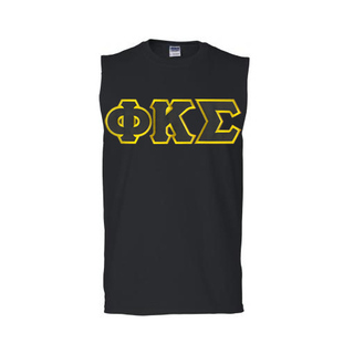 DISCOUNT- Phi Kappa Sigma Lettered Sleeveless Tee