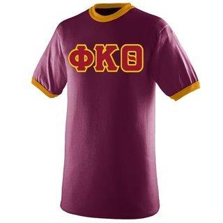 $19.99 Phi Kappa Theta Lettered Ringer Shirt