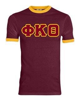 DISCOUNT- Phi Kappa Theta Lettered Ringer Shirt