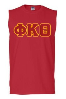 DISCOUNT- Phi Kappa Theta Lettered Sleeveless Tee