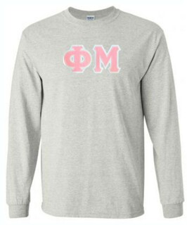 DISCOUNT Phi Mu Lettered Long Sleeve Tee