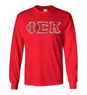 Phi Sigma Kappa Custom Twill Long Sleeve T-Shirt