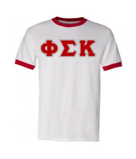DISCOUNT- Phi Sigma Kappa Lettered Ringer Shirt