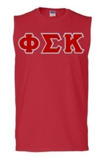 DISCOUNT- Phi Sigma Kappa Lettered Sleeveless Tee