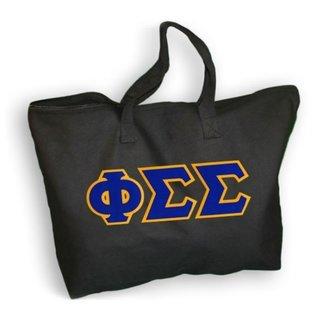 $19.99 Phi Sigma Sigma Lettered Tote Bag