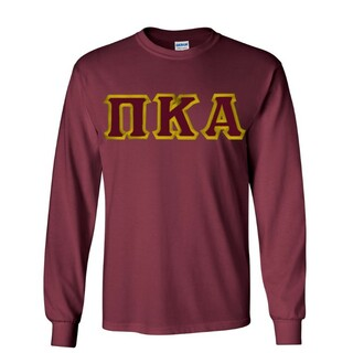 $19.99 Pi Kappa Alpha Custom Twill Long Sleeve T-Shirt
