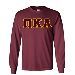 $19.99 Pi Kappa Alpha Lettered Long sleeve