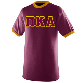 DISCOUNT- Pi Kappa Alpha Lettered Ringer Shirt