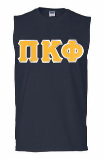 DISCOUNT- Pi Kappa Phi Lettered Sleeveless Tee