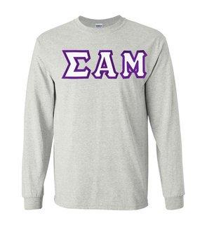 Sigma Alpha Mu Custom Twill Long Sleeve T-Shirt