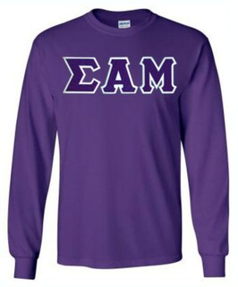 $19.99 Sigma Alpha Mu Lettered Long sleeve