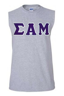 $19.99 Sigma Alpha Mu Lettered Sleeveless Tee