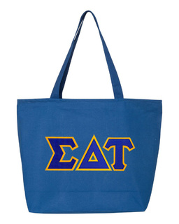 DISCOUNT- Sigma Delta Tau Lettered Tote Bag