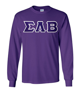 DISCOUNT Sigma Lambda Beta Lettered Long Sleeve Tee