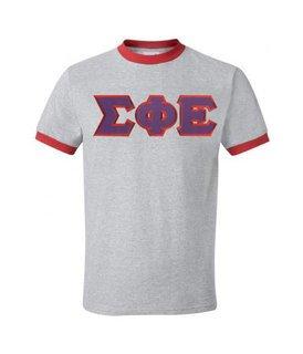 DISCOUNT- Sigma Phi Epsilon Lettered Ringer Shirt