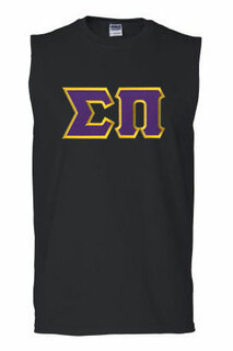 DISCOUNT- Sigma Pi Lettered Sleeveless Tee