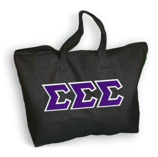 DISCOUNT- Sigma Sigma Sigma Lettered Tote Bag